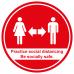 Practice social distancing floor graphic sticker