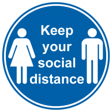 Keep your social distance anti slip floor sticker