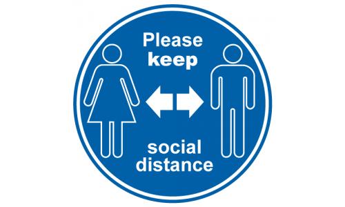 Please keep social distance anti Slip Floor sticker