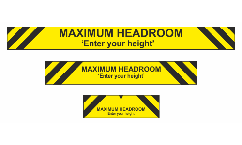 Max headroom sign enter your own height
