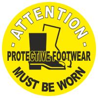 Attention Protective Footwear Must Be Worn Anti Slip Floor Marker