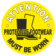 Attention Protective Footwear Must Be Worn Anti Slip Floor Marker