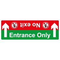 Entrance only no exit floor sticker