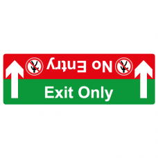 Exit only no entry floor sticker
