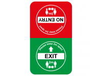 Exit and No Entry floor sticker for s...