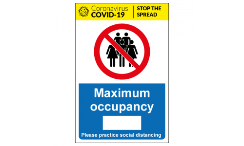 Maximum occupancy for social distancing