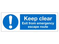 Keep clear exit from emergency escape...