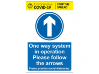 One way system in operation Please fo...