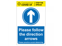 Please follow the direction arrows fo...