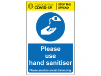 Please use hand sanitiser safety sign