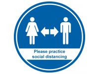 Please practice social distancing rou...