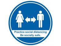 Practice social distancing floor grap...
