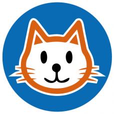 Cat school social distancing floor graphics sticker
