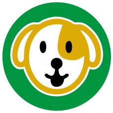 Dog school social distancing floor graphics sticker