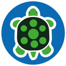 Turtle school social distancing floor graphics sticker