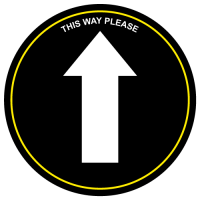 This Way Please Floor Arrow Social Distancing Anti-Slip Floor Marker