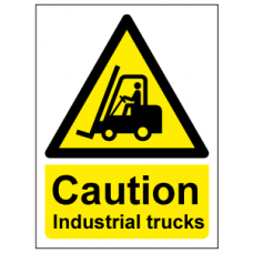 Caution industrial trucks