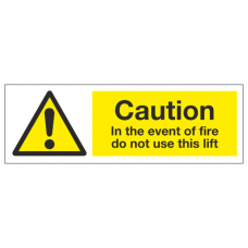 Caution in the event of fire do not use this lift