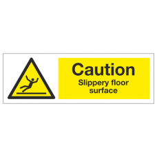 Caution slippery floor surface sign