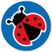 Ladybird school social distancing floor graphics sticker