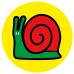 Snail school social distancing floor graphics sticker