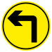 Turn left arrow social distancing anti-slip Floor Marker