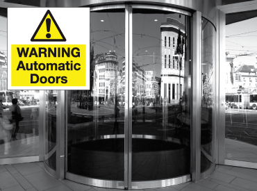 Automatic Door Signs